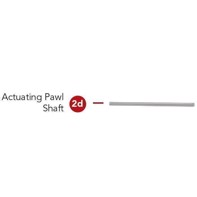 Rotary straight/convex- Actuating Pawl Shaft