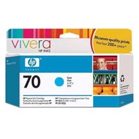 HP 70 - 130 ml Cyan mustepatruuna